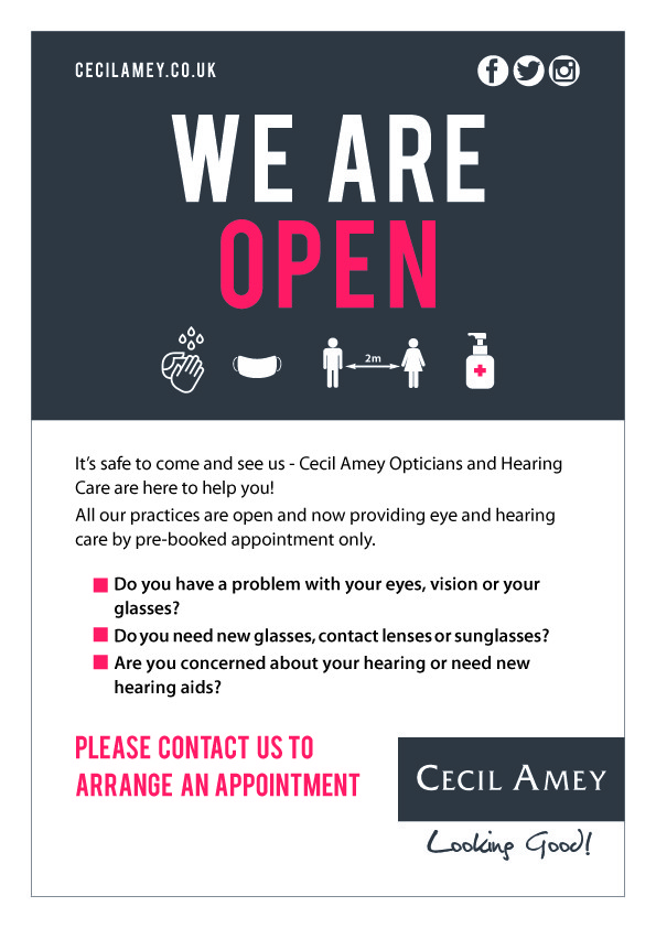 Open for Eye and Hearing Care